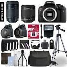 Canon Rebel T6i Camera 4 Lens Kit 18-55 + 55-250mm STM + 64
