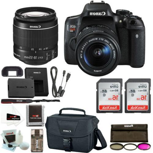 Canon Rebel T6i DSLR Camera w/ 18-55mm lens + Promotional Ho