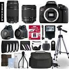 Canon Rebel T6i SLR Camera 4 Lens Kit 18-55 + 75-300mm  + 64