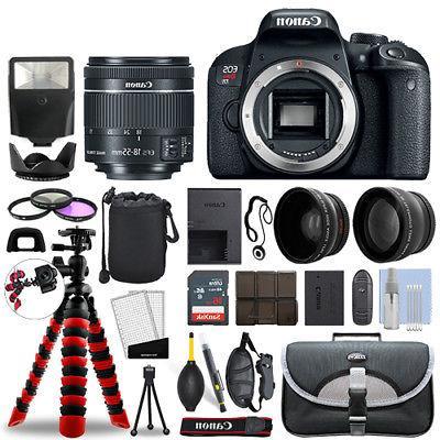 Canon Rebel T7i DSLR Camera with 18-55mm STM+ 16GB 3 Lens Ul