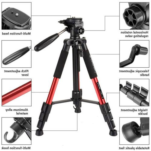 Zomei Red Q111 Pan Head Camera Video