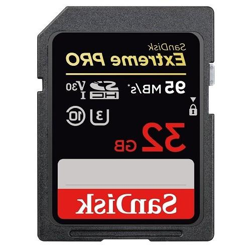 SanDisk 32GB Extreme Pro Memory Card works with Digital Camera SDHC 4K UHS-I Stromboli