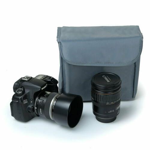 Shockproof DSLR Bag Insert Lenses Padded Case for Canon