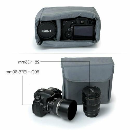 Shockproof DSLR Insert Lenses Case for