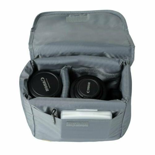 shockproof dslr camera bag insert protective lenses