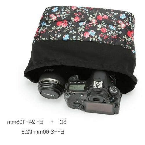 Shockproof DSLR Bag Insert Padded Partition Lens Case