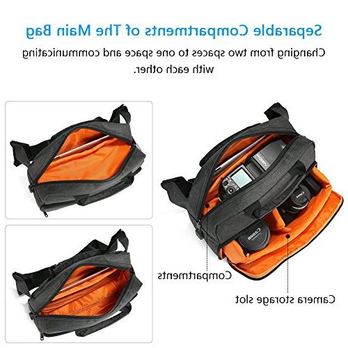 Koolertron Camera Sling Backpack Rain Cover and Strap for Nikon Sony & Accessories Camera