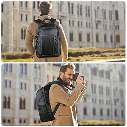 "Estarer Camera for Nikon Canon Sony Digital Accessories 15.6"" Laptop Camera Bag"