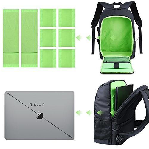 "Estarer Backpack for Digital Lens Accessories 15.6"" w/Rain Camera Bag"