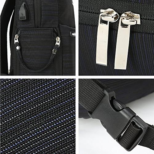 Koolertron Camera Backpack USB Multi-function Bag Unisex for