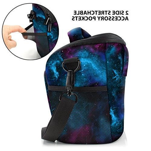 USA SLR/DSLR Camera Case Bag with Top Loading Sling, Rain Cover Resistant