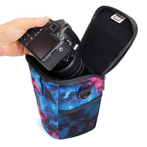 USA Gear SLR/DSLR Case Bag Loading Accessibility, Adjustable Sling, Handle, Rain Cover Resistant Galaxy