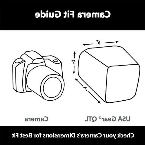 USA Travel DSLR Camera Case Bag Nikon Cameras with Adjustable and Padded Works Nikon D500,