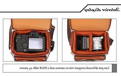 Small Mens Womens Waterproof Canon Nikon Shoulder