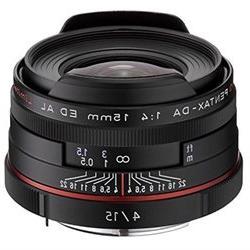 Pentax SMC 15mm f 4.0 DA ED AL Limited Wide Angle Lens for P