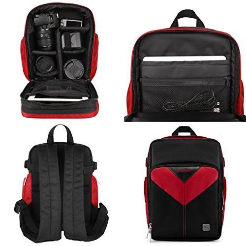 VanGoddy DSLR & Mirrorless Camera Backpack Suitable D5600 / D5500 / D5300 D500 D5 D3500 D3400 / D3300 / D3200