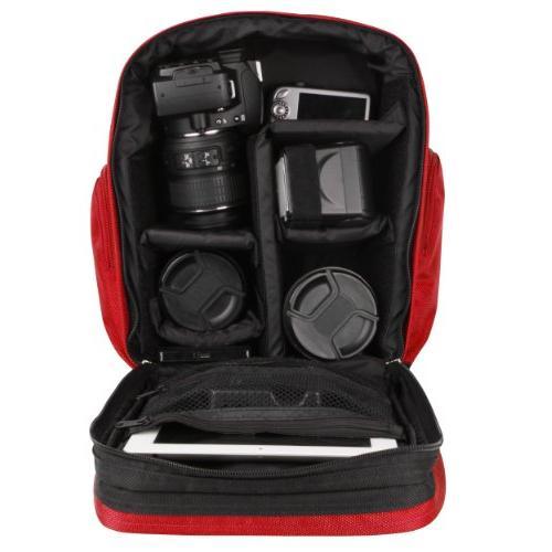 VanGoddy Fire DSLR & Backpack Suitable Nikon D5600 / D5500 D5300 D500 D5 D3500 D3300 /