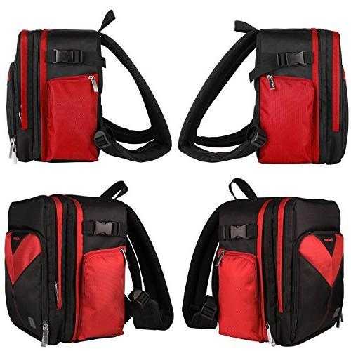 VanGoddy Sparta Fire DSLR & Mirrorless Backpack Suitable for D5600 D5300 / D5200 / D500 D5 / D3500 D3300 /