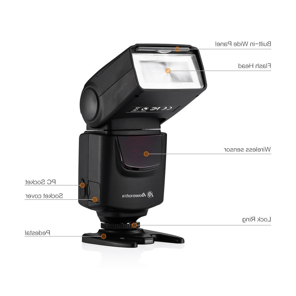 Speedlite Flash For Canon EOS Nikon Pentax DSLR