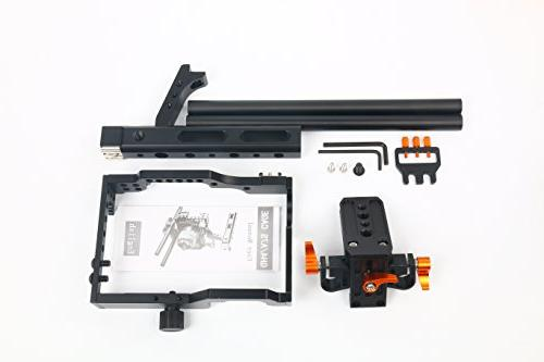 YaeCCC 15mm Rod Rig Camera Cage+Follow Focus+Matte Box Sony A7