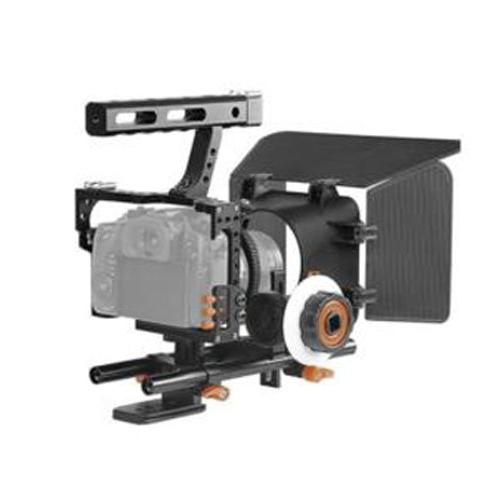 YaeCCC Video Stabilizer 15mm Rig Cage+Follow Focus+Matte Box Sony A7