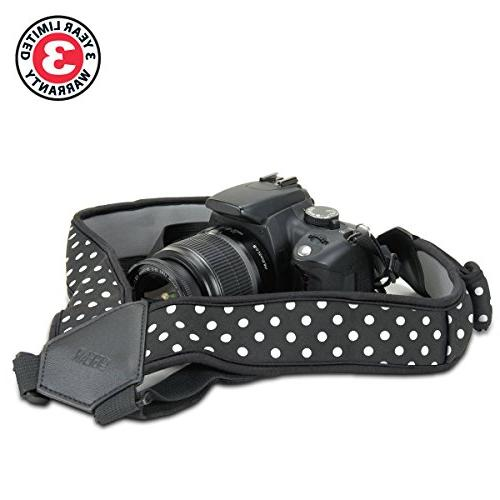 USA DSLR Strap Chest Harness Polka Dot Neoprene and Accessory Fujifilm, & Mirrorless