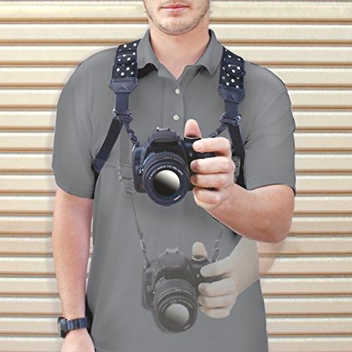 USA GEAR DSLR Strap and Accessory Compatible with Canon, &