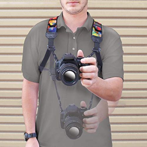 USA GEAR Strap Chest Harness Accessory - with Canon, Sony and Point &