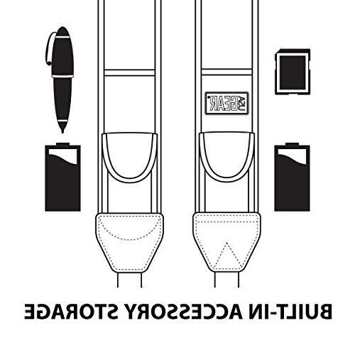 USA DSLR Strap Harness Polka Dot and Pockets Compatible Canon, Fujifilm, More &