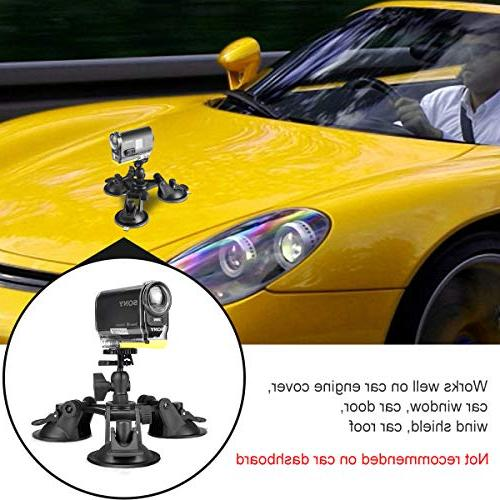 Camera Triple with Key Camera Car Cup Car Mount Holder Windshield Window