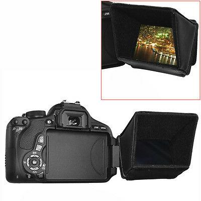 "Neewer 3.5"" Collapsible LCD Screen Sun Shield Hood for DSLR"