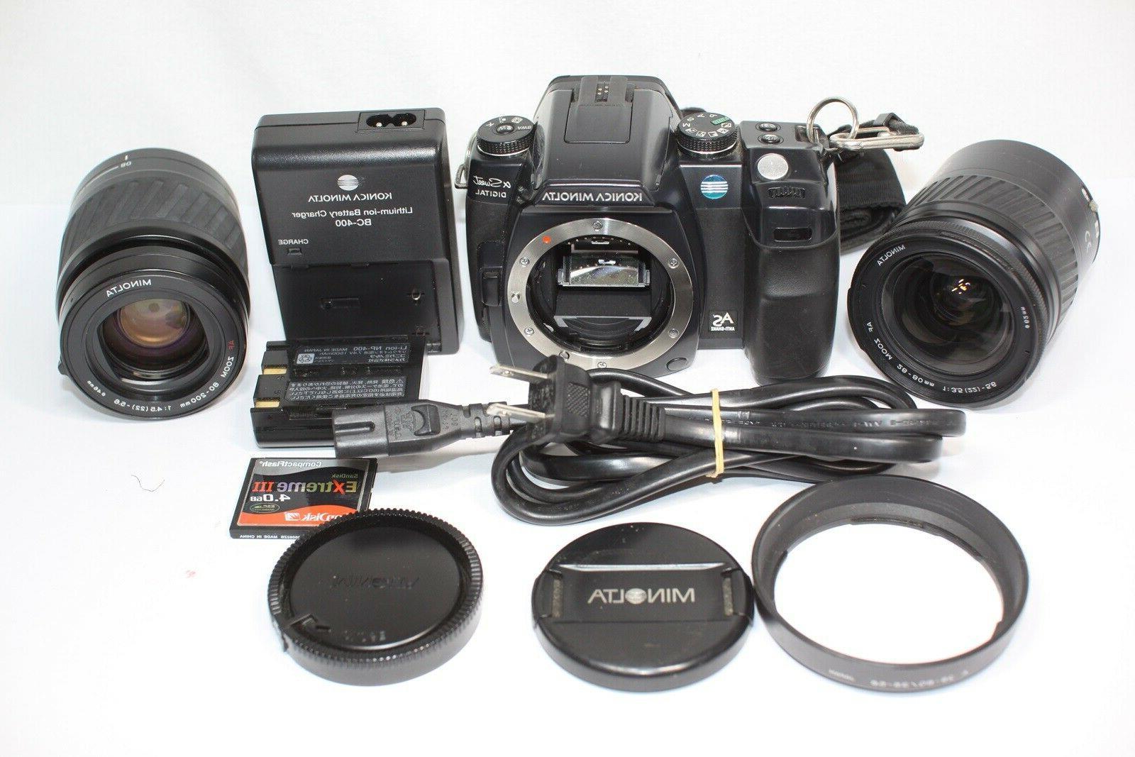 Minolta α Sweet Digital Camera AS & Zoom 28-80mm F3.5-5.6 8
