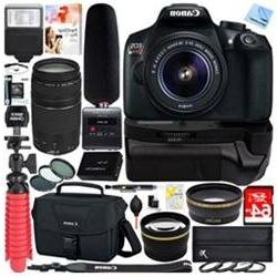 Canon T6 EOS Rebel DSLR Camera + 18-55mm & 75-300mm Dual Len