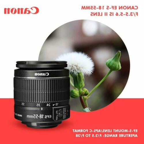 Canon Rebel DSLR Camera 18-55mm f/3.5-5.6 is II Lens and
