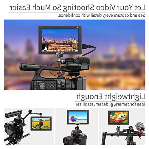 FEELWORLD T7 IPS 4K Field Monitor Full 1920x1200 Aluminum Housing DSLR with Colors