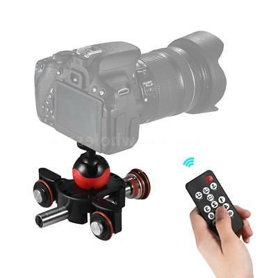 Tabletop Dolly Car Camera Video Camcorder Slider Remote