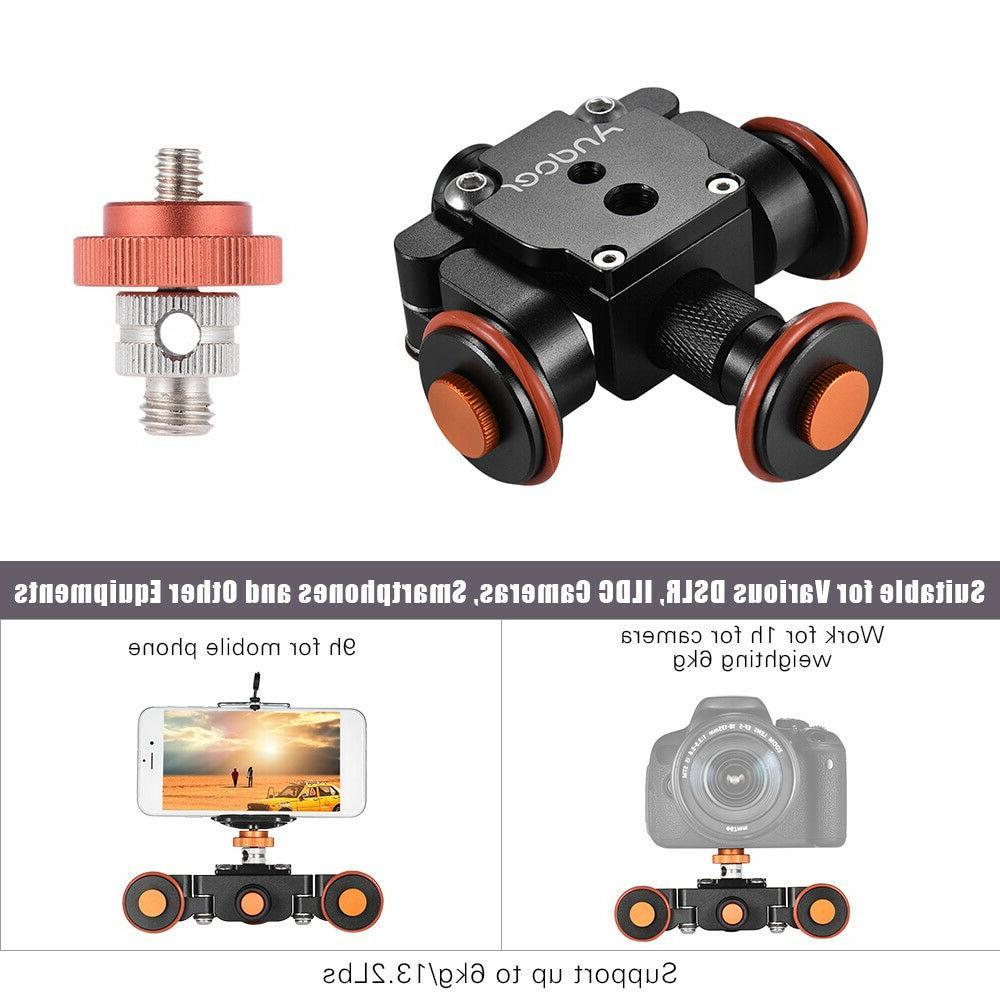 Tabletop Dolly DSLR Camera Video Camcorder Slider Stabilizer Remote