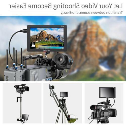"FEELWORLD 7"" IPS SDI/4K Camera DSLR"
