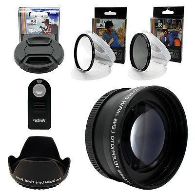 Telephoto Zoom for Canon DSLR T6i T3 T5 58MM