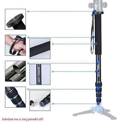telescopic aluminium walking stick monopod unipod pole