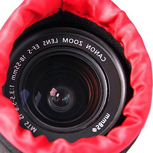 POLAM-FOTO 4 Pack Lens Protect DSLR Lens, Lens Case with Soft Thick Inside Nikon, Tamron, Sigma,