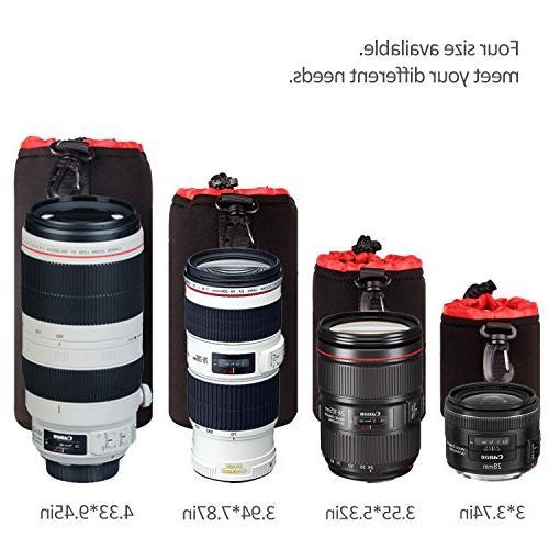 POLAM-FOTO 4 Lens Set Protect DSLR Lens Soft Black Inside Tamron, Sigma, Pentax, etc.