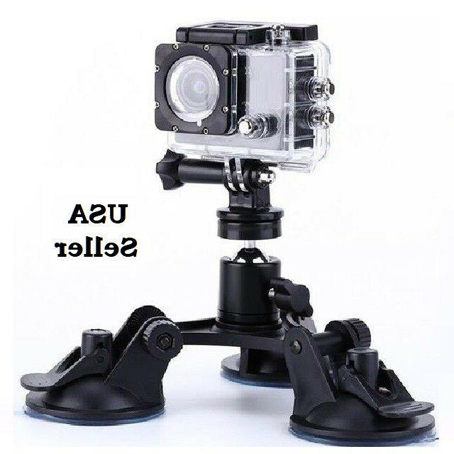 triple low angle suction cup mount holder