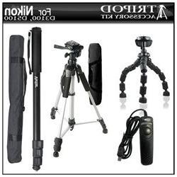 Tripod accessory Bundle Kit For Nikon D5200 D3200 D3100 D510