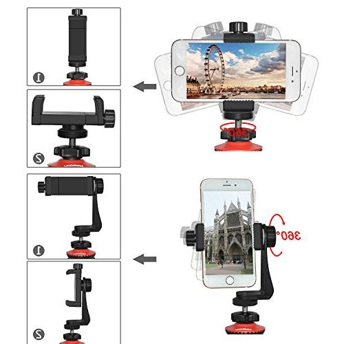 Lammcou Camera Phone Lightweight Action Camera Mini Pod DSLR Tripod Travel Gopro/XiaomiYi/ Canon/Nikon/Sony/iPhone/Samsung/LG