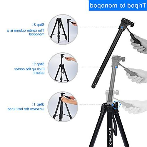 BAALAND Tripod, inch Folding Aluminum Tripod with for Canon SLR