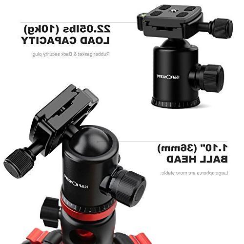 K&F Camera Tripod 66 Portable Magnesium Aluminium Monopod with 360 Head Release Plate Compatible with Canon Nikon Sony DSLR