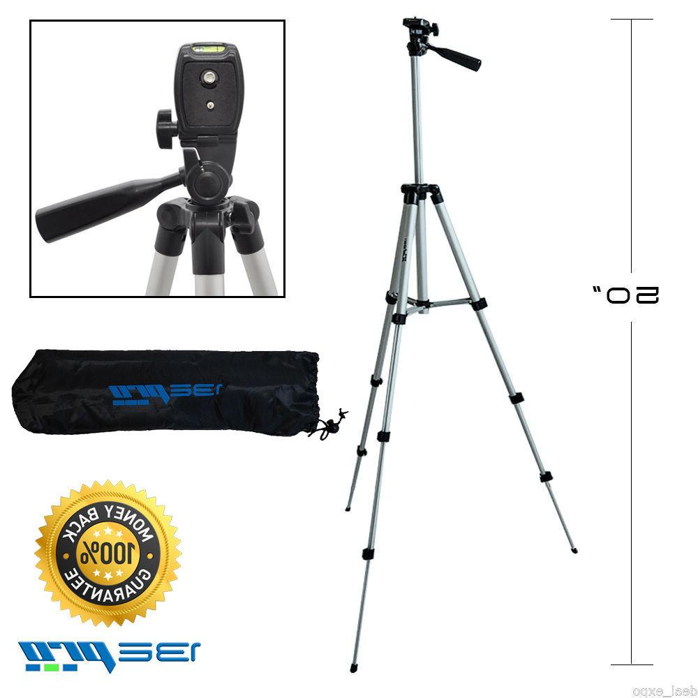 I3ePro Full Size 50-inch Tripod W/Leveler Adjust & Carrying