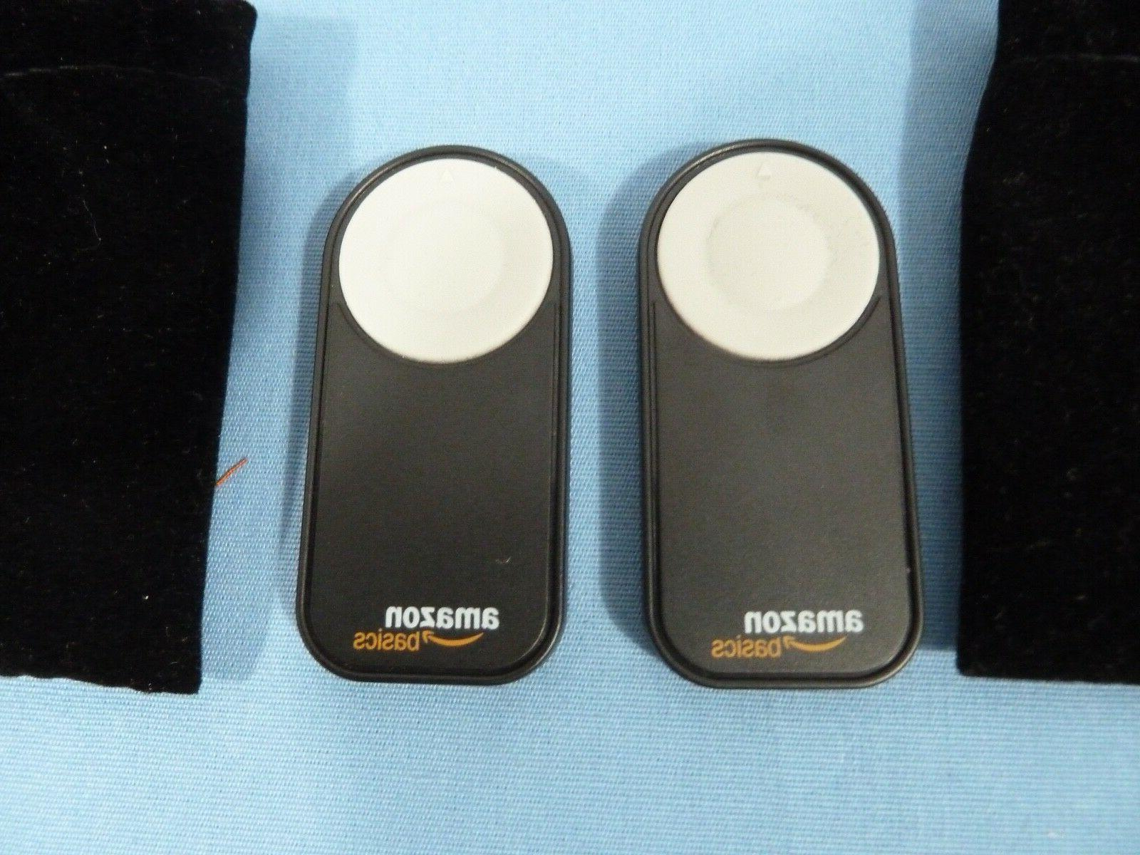 TWO AmazonBasics Wireless Remote Control SLR