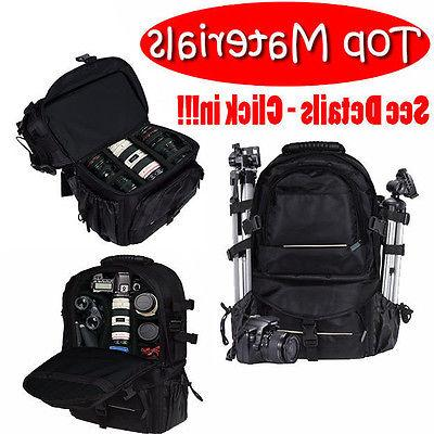 universal dslr slr camera large backpack bag